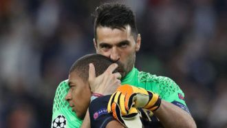 A Buffon kiss to Mbappe who ended his record