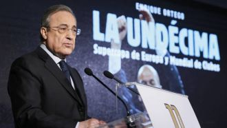 Florentino Perez: The Bernabeu can't host the Copa final due to construction work