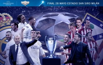 Real stamp ticket for all-Madrid final